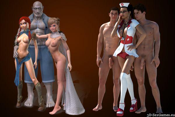 Bronzestatuen in erotischen sexuellen Positionen