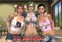 Sexvilla Sex Spiel mit Schul Studentin Porno 3D
