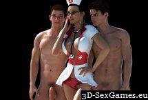 Ficken Sie in virtuellen 18+ Erwachsenen Sex Spiel 3D Mädchen