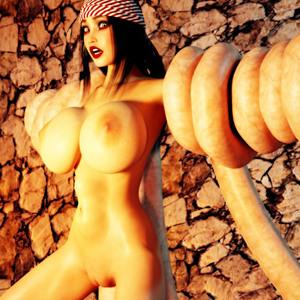 3D Monster und Ungeheuer ficken nackte Schlampen