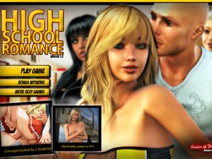 High School Romance Sex Spiel mit +18 Studenten
