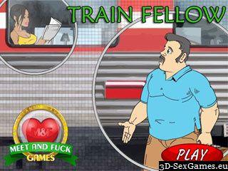 Train Fellow ficken einen Fremden Zug Reisenden