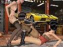 Garage dreier 3D lesben Mädchen