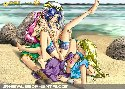 Strand madchen mit schwanzen