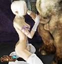 Kleine barbie und monster penis