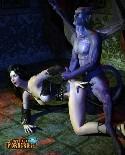 Monster teufel fickt ihren sklaven